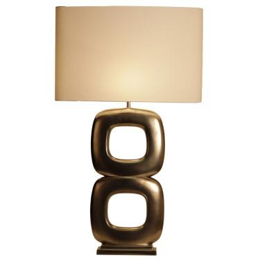 Maxime quadrato dubbel tafellamp goud - Stout Verlichting