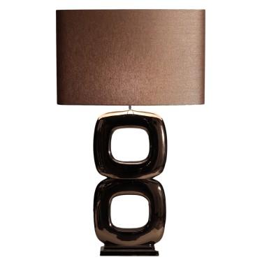 Maxime quadrato dubbel tafellamp brons - Stout Verlichting