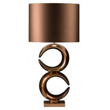 Luna tafellamp dubbel goudbrons - Stout Verlichting