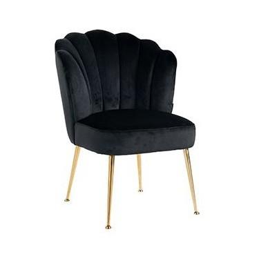 Pippa stoel zwart velvet - Richmond