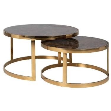 Conrad salontafel set van 2 goud - Richmond