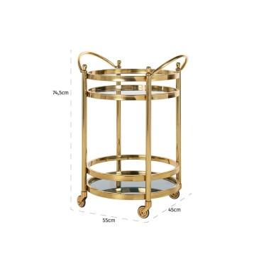 Hendricks trolley goud - Richmond
