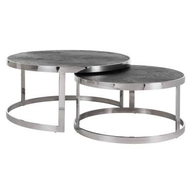 Blackbone Zilver salontafel set van 2 - Richmond
