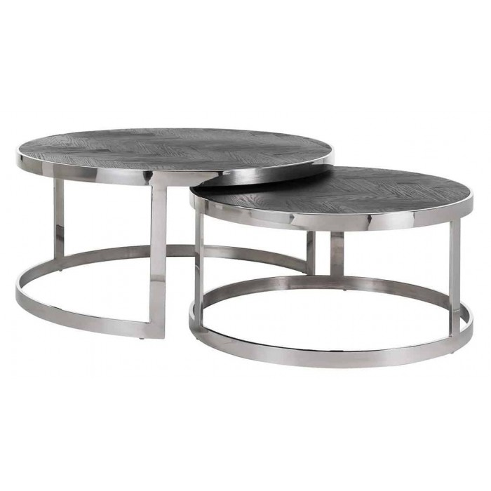 Blackbone Zilver salontafel set van 2 - Richmond