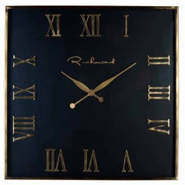 Derial clock square gold -...