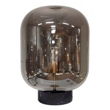 Tafellamp Glass Marble Base - Dôme Deco