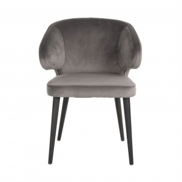 Indigo chair stone velvet -...