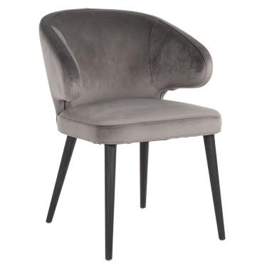 Indigo stoel stone velvet - Richmond