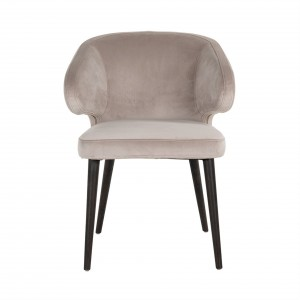 Indigo chair khaki velvet -...