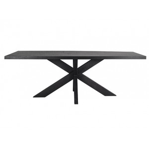 Black oak dining table 240 black - Concept Living