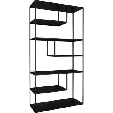 Loft high cabinet black -...