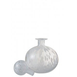 Bottle Leopard S White - Abitare Home Collection