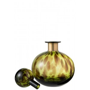 Fles Leopard S Groen - Abitare Home Collection
