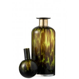 Bottle Leopard M Green - Abitare Home Collection