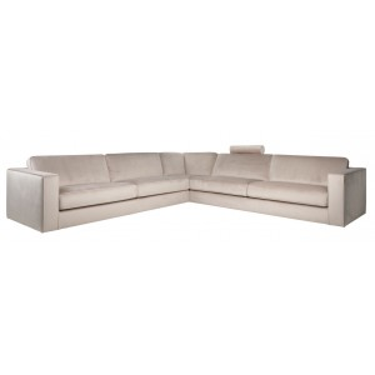 Fratelli corner sofa Khaki velvet - Richmond