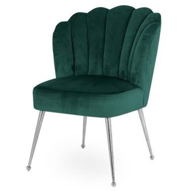 Pippa chair green velvet silver - Richmond