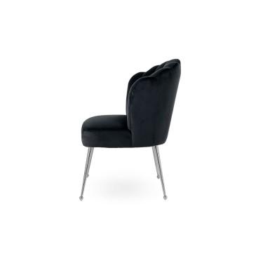 Pippa chair black velvet silver - Richmond