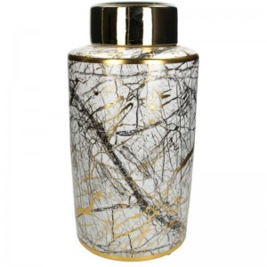 Jar White Marble L