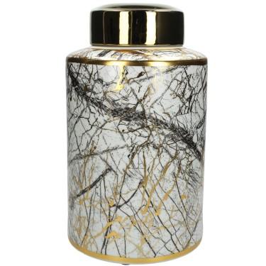 Jar White Marble S