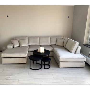 Sofa U-Anordnung khaki - Abitare
