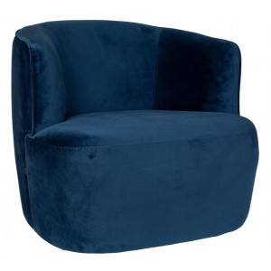 Hugo Lounge chair Blue -...