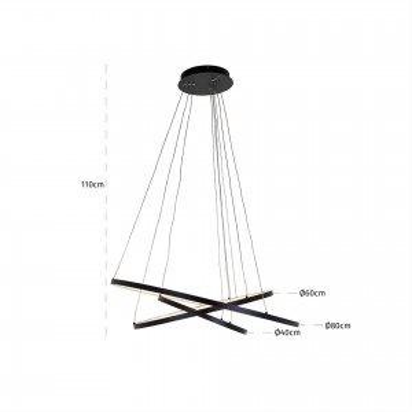 Amira hanglamp zwart - Richmond
