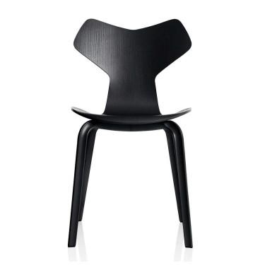 Grand Prix Chair Wood Black  - Fritz Hansen