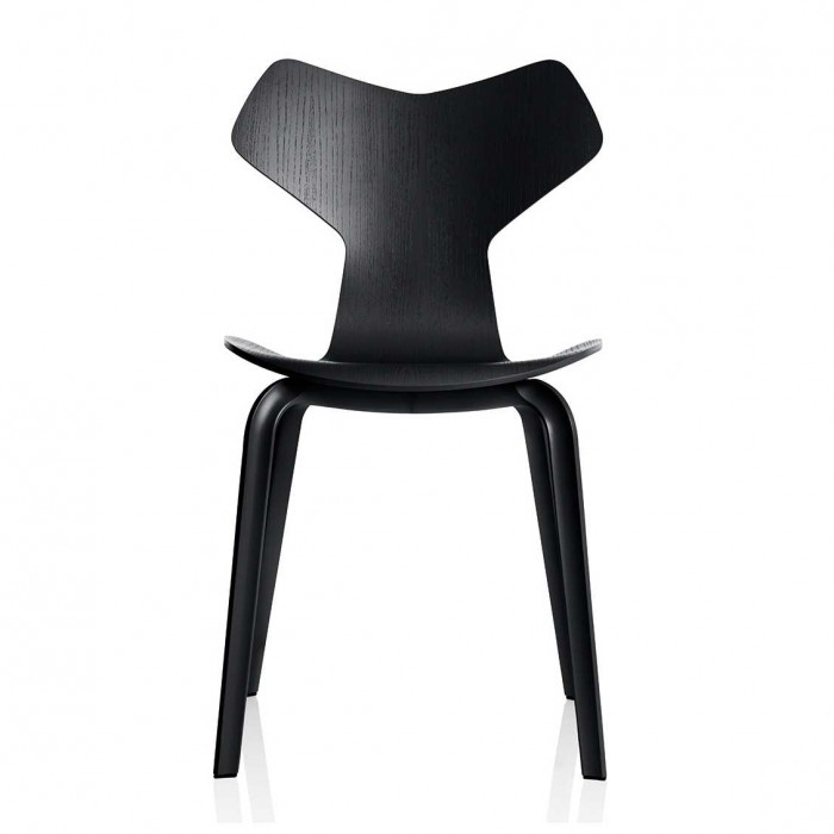 Grand Prix hout stoel zwart  - Fritz Hansen