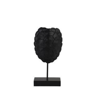 Turtle Ornament op voet 13x6,5x26,5cm zwart - Light & Living