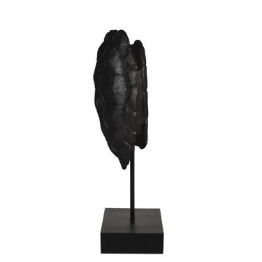 Turtle Ornament op voet 20,5x11,5x41cm zwart - Light & Living