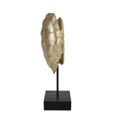 Turtle Ornament op voet 20,5x11,5x41cm goud - Light & Living