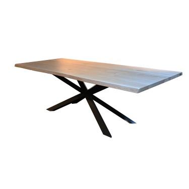 Tree slab table solid oak -...