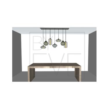 Hängelampe 7 bulbs - BY EVE