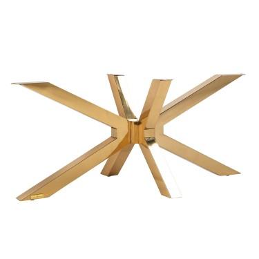 Alleen salontafel X-poot goud (Gold)