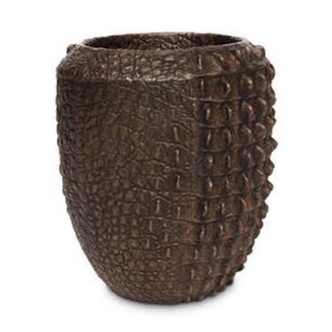 Pot Croco brons - Pot & Vaas