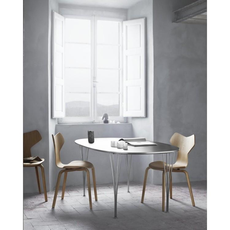 2Grand Prix Chair Wood Black  - Fritz Hansen