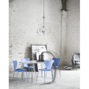 Serie 7 Monochrome vlinderstoel Trieste Blue - Fritz Hansen
