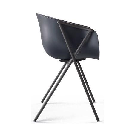Bai stoel met zwart frame - Ondarreta