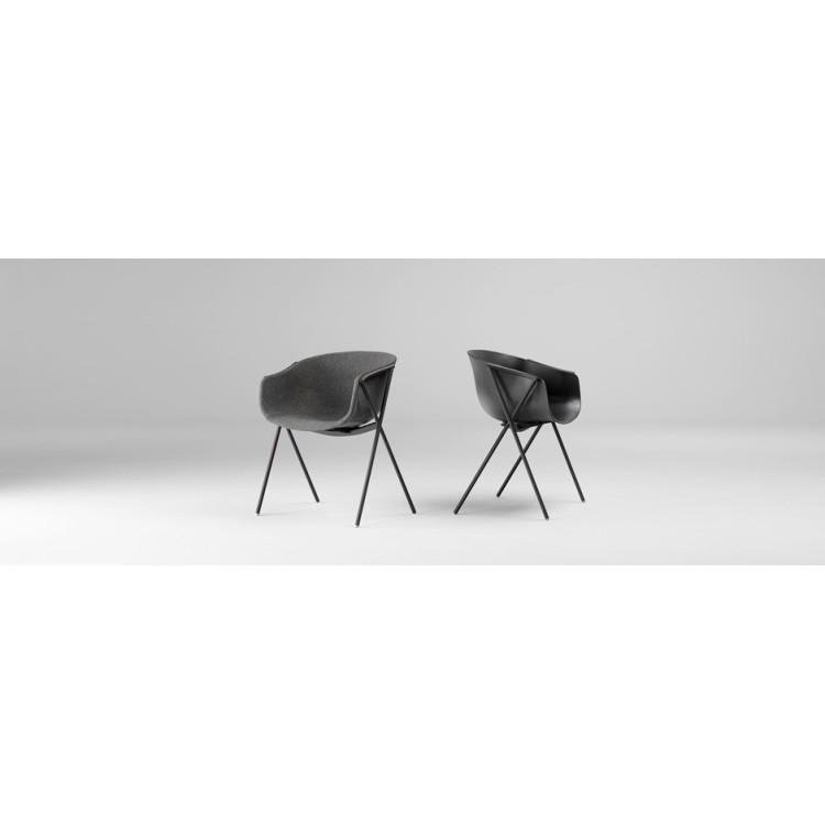 2Bai stoel met zwart frame - Ondarreta